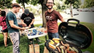 Grilling at Creative Density Coworking
