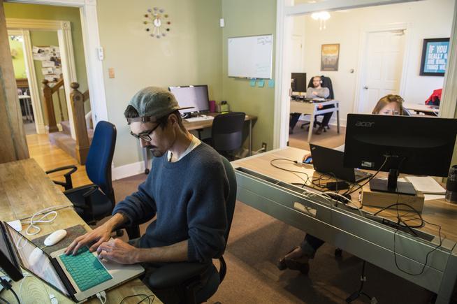 Denver Coworking in the quiet room.