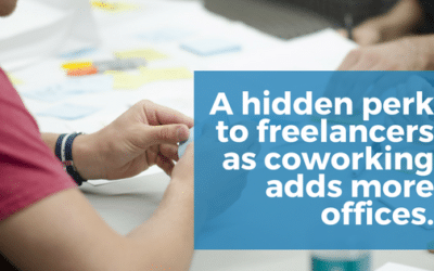As coworking adds more offices there is BIG a hidden benefit for freelancers and remote workers