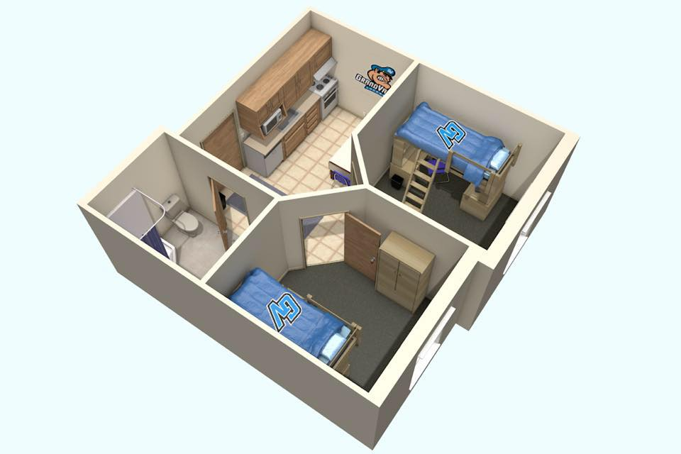 I Once Lived In A Dorm Called West B While Studying At Grand Valley State University Most Rooms Are Basically Two Bedroom Mini Apartments Around 350