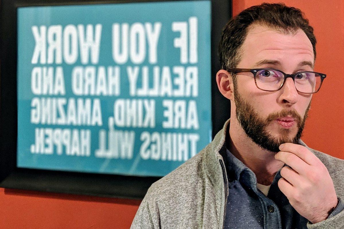 Freelancer Dylan at Creative Density Coworking in Denver