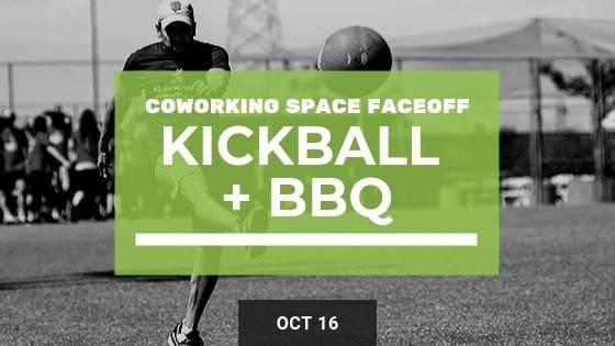 Coworking Kickball Faceoff