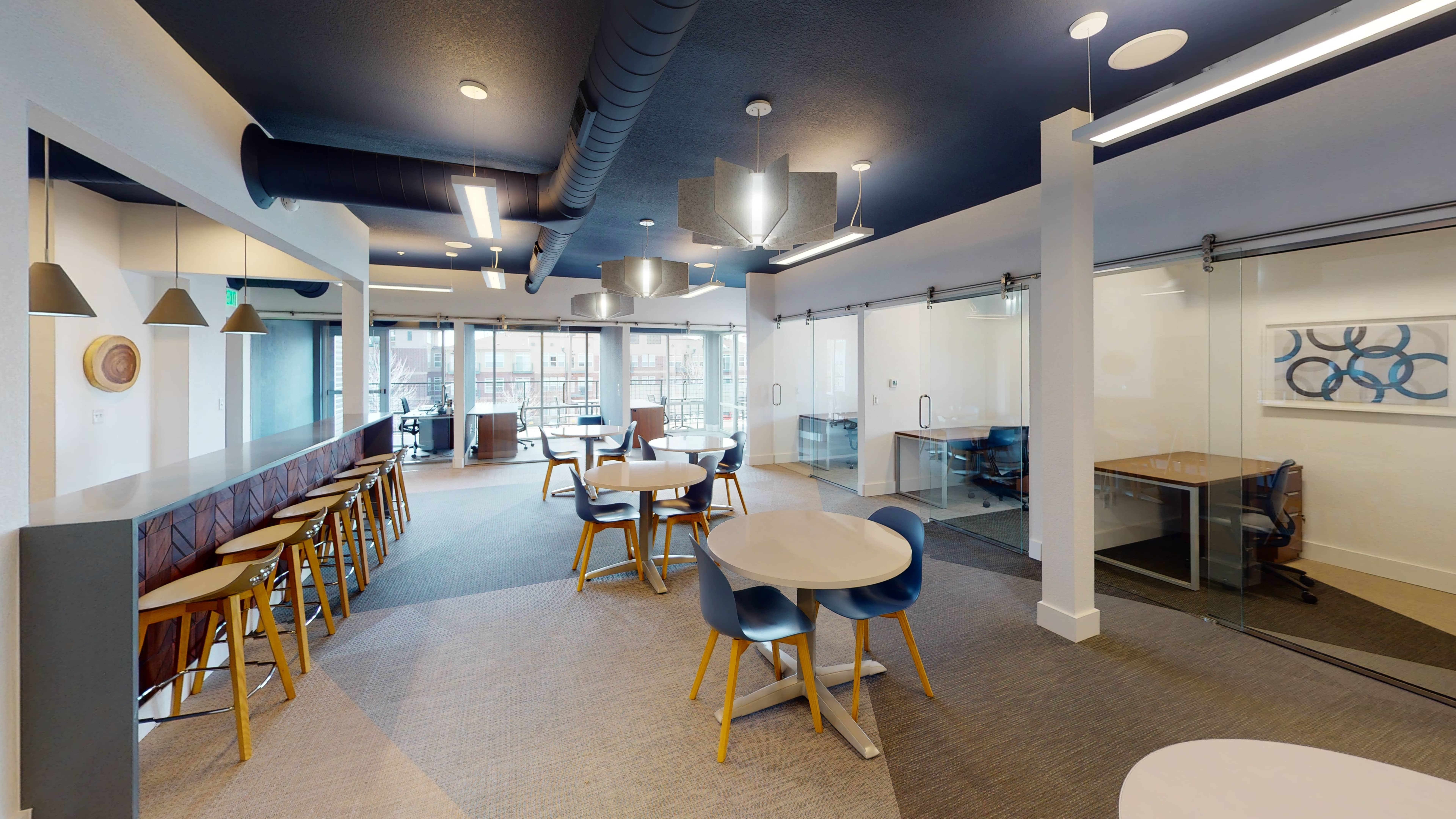 Flexible and cleaning coworking floor in Lone Tree Colorado