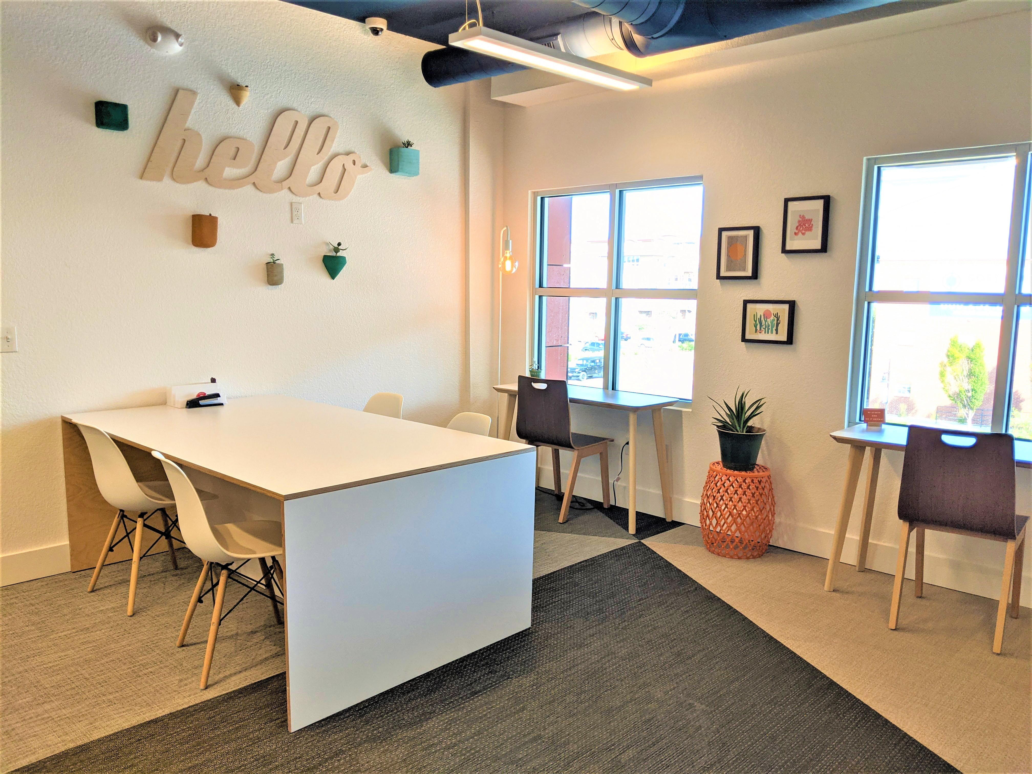 Coworking in the phone booth, perfect for remote workers.